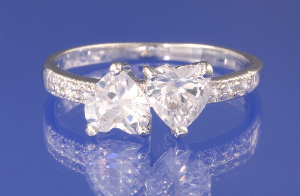 2.0ctw RUSSIAN DIAMOND ENGAGEMENT RING size I,I1/2,K,K1/2,M,P,R,U,U1/2