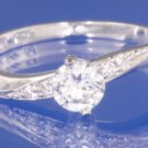 0.57ctw RUSSIAN DIAMOND ENGAGEMENT RING Size O or P