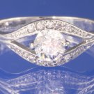 0.60ctw Russian Diamond Engagement Ring Size M or O