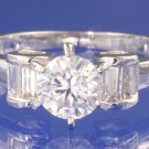 1.0ctw RUSSIAN DIAMOND ENGAGEMENT RING size O