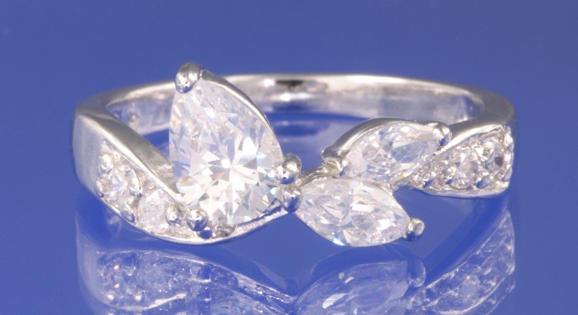 1.2ctw RUSSIAN DIAMOND ENGAGEMENT RING size M,N,O or Q