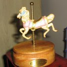 Willetts Designs May Birthday Carousel Horse Music Box Plays Let Me Call You Sweetheart #400084