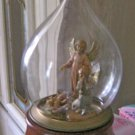 Genuine Fontanini Glass Teardrop Nativity Scene Music Box Plays Silent Night #400111