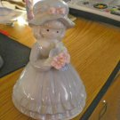 Norcrest Little girl in Gray Music Box Plays The Sound of Music #400079