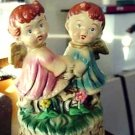 Adorable Little Girl and Boy Angels Music Box Made in Japan #400053
