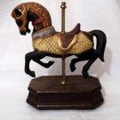 UOGC Black Carousel Horse Music Box  #400156