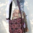 Hmong Old Vintage Style Thai handmade Patch work Sling Cotton Shoulder Bag Handbag