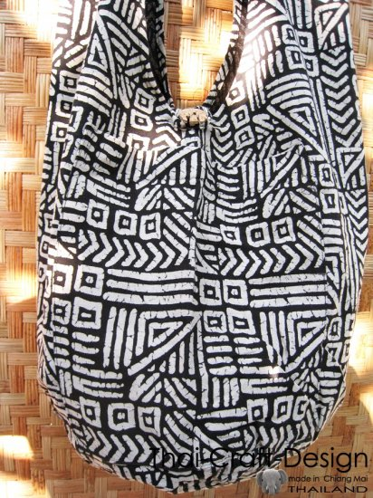 Thai Monk Buddha Bag Cotton Shoulder Yaam Hippie handmade