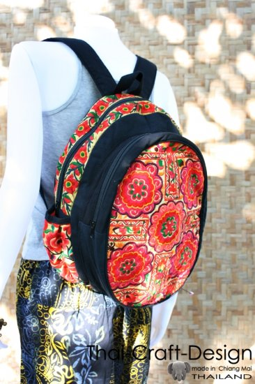 Backpack vacation travel Hmong Old Vintage Style Thai handmade Patch work