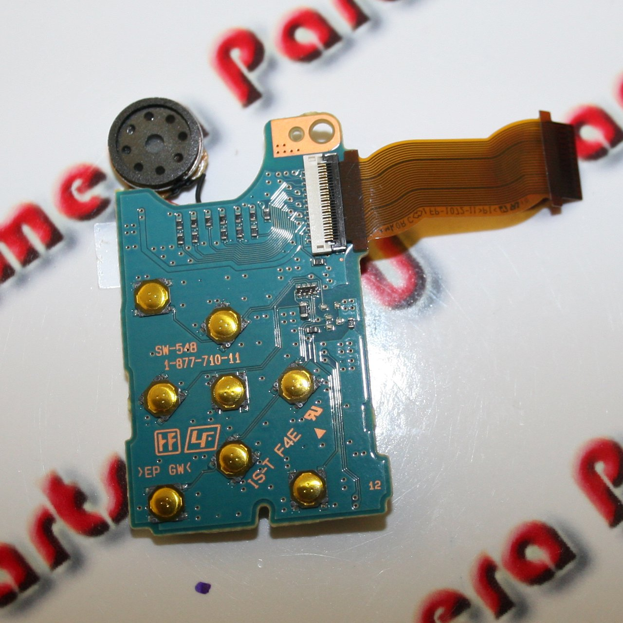 Sony DSC-H20 SD Card Reader PCB Rear Buttons