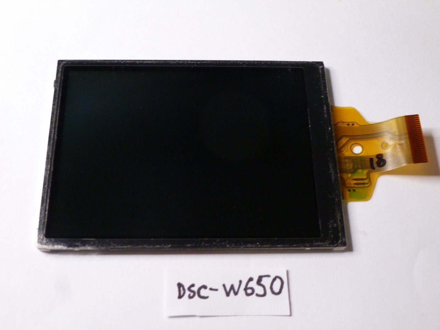 Sony DSC-W650 LCD Display Screen