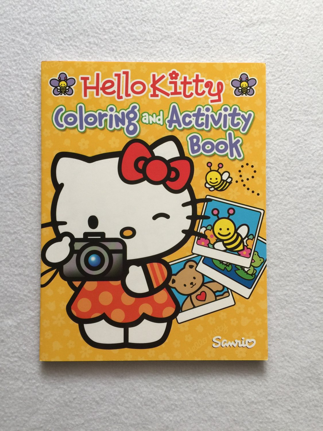 Yellow Hello Kitty Coloring and Activity Book