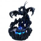 Dark Dragon in Swampland Water Mist Fountain Statue