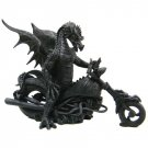 Dark Dragon on Motorcycle Statue