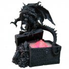 Dark Dragon with Treasure Chest Water Mist Statue