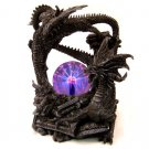 Dark Dragons of the Earth with Plasma Ball Statue
