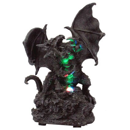 Roaring Dragon Statue with LED Light Statue