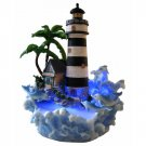 Lighthouse with Dolphins Water Mist Fountain