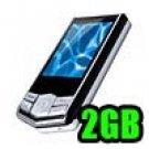 Fantasia - MP4 Player 1.8 inch TFT Display 2GB - Metal Chrome & Black