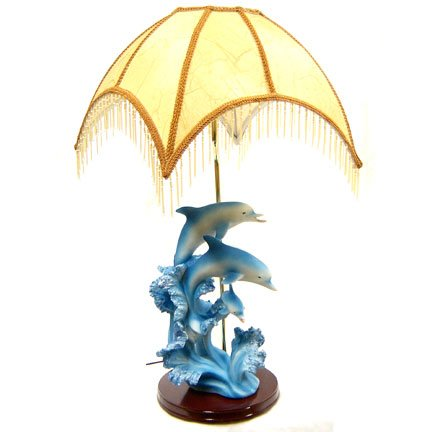 Dolphin Statue Lamp