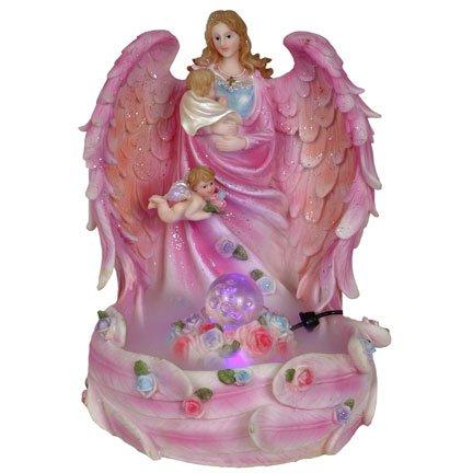 Guardian Angel Cradling Baby Jesus Water Mist Fountain Statue