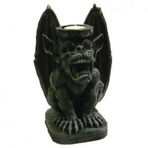 Gorgoyle Candle Holder Statue