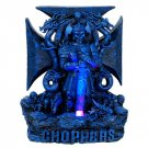 Blue Warrior Chopper LED Light Statue