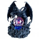 Demon of the Night with Plasma Ball Statue