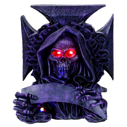 Demon with Blade Chopper LED Light Statue