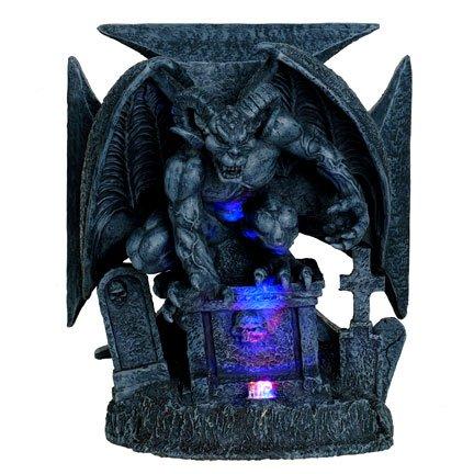 Graveyard Demon Chopper LED Light Statue
