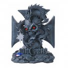 Skull with Dragon Chopper - A LED Light Statue