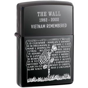 Black Ice, Vietnam Wall Memorial Zippo Lighter