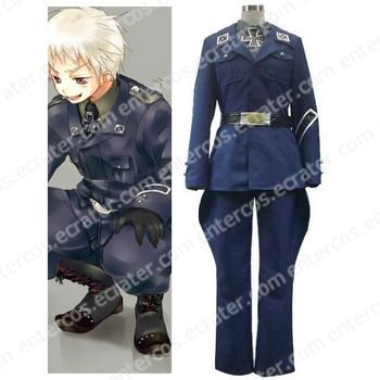 Axis Powers Prussia Gilbert Beilschmidt Cosplay Costume any size.