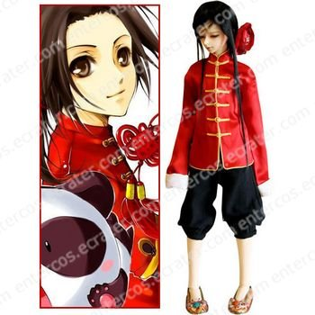 Hetalia Axis Powers China Wang Yao Cosplay Costume  any size