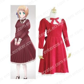 Hetalia Axis Powers Liechtenstein Red Cosplay Costume any size
