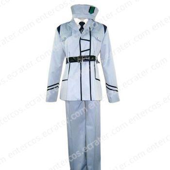 Hetalia Axis Powers White Uniform Cosplay Costume  any size