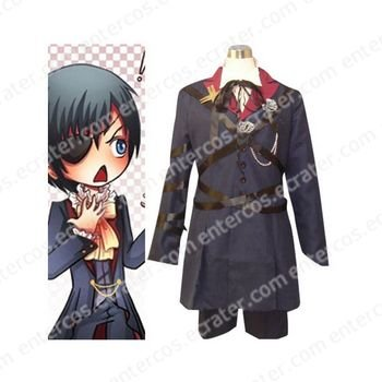 Black Butler Ciel Phantomhive Halloween Cosplay Costume any size