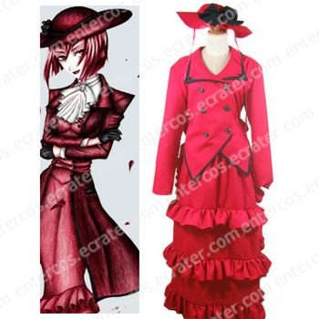 Black Butler Madam Red Angelina Dalles Halloween Cosplay Costume any size