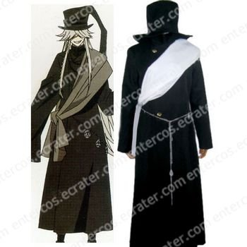 Black Butler Undertaker Halloween Cosplay Costume any size