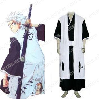 Bleach 10th Division Captain Toushiro Hitsugaya Halloween Cosplay Costume any size
