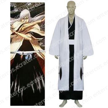 Bleach 13th Division Captain Ukitake Juushiro Halloween Cosplay Costume any size