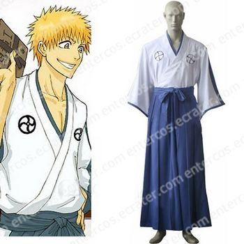 Bleach Shinigami Academy Uniform Halloween Cosplay Costume any size.