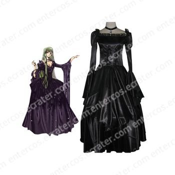 Code Geass Elegant Green Cosplay Costume  any size.