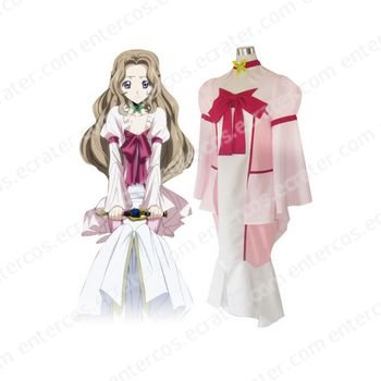 Code Geass Lelouch of the Rebellion Nunnally Lamperouge Cosplay Costume any size.