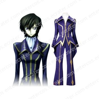 Code Geass Lelouch of the Rebellion Zero Cosplay Costume  any size.
