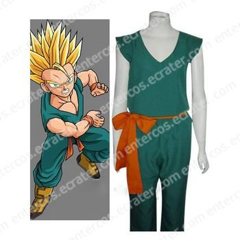 Dragon Ball Z Trunks Cosplay Costume   any size.