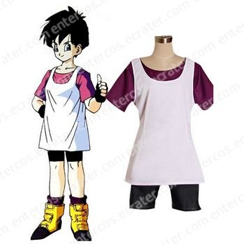 Dragon Ball Z Videl Cosplay Costume any size.