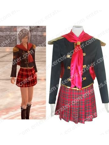 Final Fantasy Agito XIII Female Uniform Cosplay Costume any size.