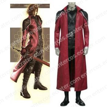 Final Fantasy VII Genesis Rhapsodos Halloween Cosplay Costume  any size.