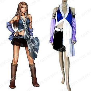 Final Fantasy Xii Yuna Lenne Song Halloween Cosplay Costume  any size.